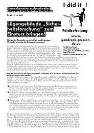 """Lügengebäude """" Sicher- heitsforschung"""