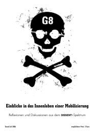 Dissent-Broschüre - Projektwerkstatt