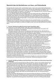 Rechtsformen - Stiftung FreiRäume