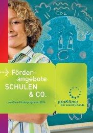 Förder- angebote SCHULEN & CO. - proKlima Hannover