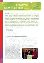Newsletter Dezember 2010 - proKlima Hannover