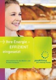 Bäcker- und Konditorhandwerk - proKlima Hannover