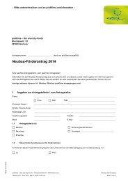 Neubau-Förderantrag 2014 - proKlima Hannover