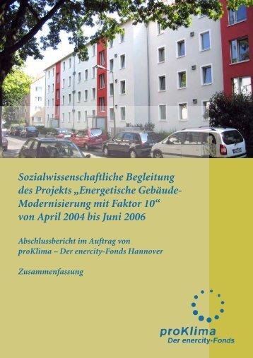 Energetische Gebäude- Modernisierung mit Faktor 10 - ProKlima GbR