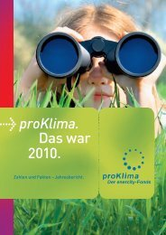 Jahresbericht 2010 - proKlima Hannover