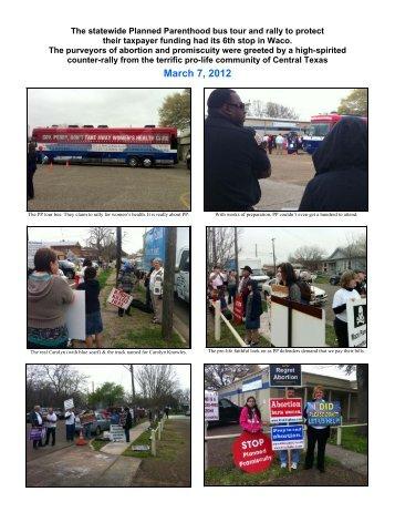 March 7, 2012 - Pro-Life Waco