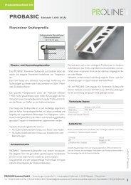 Produktdatenblatt 303 PROBASIC Florentiner ... - Proline Systems