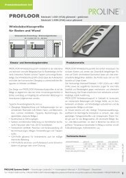 Produktdatenblatt 244 PROFLOOR Edelstahl - Proline Systems