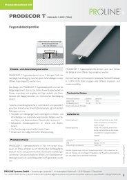 Produktdatenblatt 281 PRODECOR T Edelstahl - Proline Systems