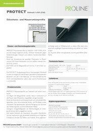Produktdatenblatt 231 PROTECT Edelstahl ... - Proline Systems
