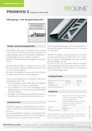 Produktdatenblatt 312 PRONIVO S Edelstahl - Proline Systems