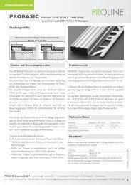 Produktdatenblatt 301 PROBASIC Edelstahl - Proline Systems