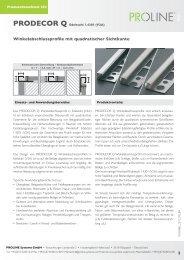 Produktdatenblatt 252 PRODECOR Q Edelstahl - Proline Systems