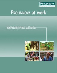 Brochure - Prolinnova at Work: Highlights in 2004 - 2006
