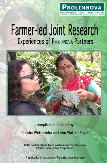 Farmer-led joint research - Prolinnova