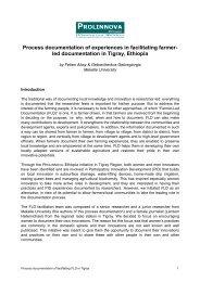Process documentation of experiences in facilitating ... - Prolinnova
