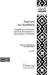 Trees are our backbone: integrating environment and ... - Prolinnova