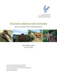 Ecological agriculture in Uganda and the contribution of ... - Prolinnova