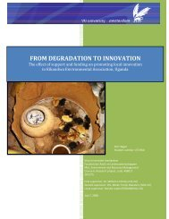 From degradation to innovation: the effect of support ... - Prolinnova