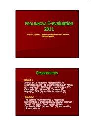 IPW2011_ppt_Prolinnova e-evaluation 2011