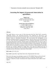 Assessing the impact of grassroots innovation in ... - Prolinnova