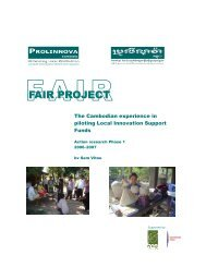 The Cambodian experience in piloting Local Innovation ... - Prolinnova