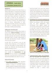 JOLISAA – South Africa e-Newsletter, January 2012 - Prolinnova