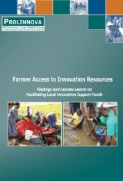 Farmer Access to Innovation Resources: Findings and ... - Prolinnova
