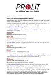 PPP-Newsletter vom 16. Juli 2009 - Prolit Verlagsauslieferung GmbH