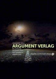 ARGUMENT VERLAG - Prolit Verlagsauslieferung GmbH