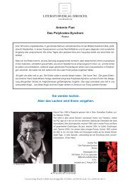 LiteraturverLag DroschL Antonio Fian Das Polykrates-Syndrom Sie ...