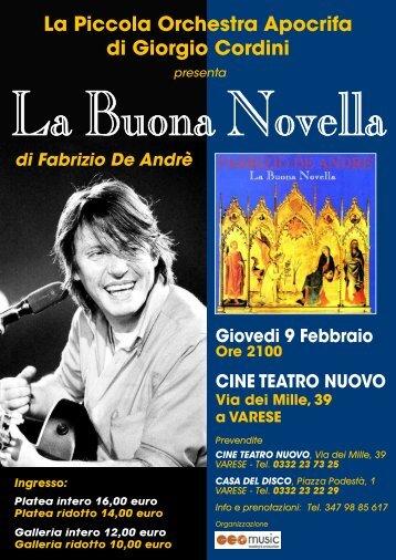 La Piccola Orchestra Apocrifa di Giorgio Cordini