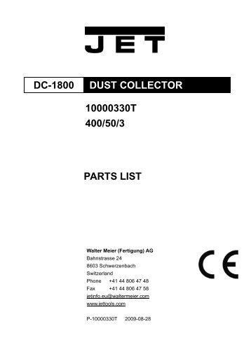 DC-1800 parts list and breakdown FB 191005 - Promac