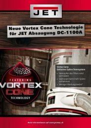 Neue Vortex Cone Technologie für JET Absaugung DC ... - Promac