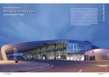 Aeropuerto de León, unitario, funcional y flexible - Promateriales