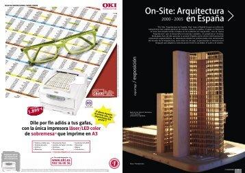 On-Site: Arquitectura en España - Promateriales