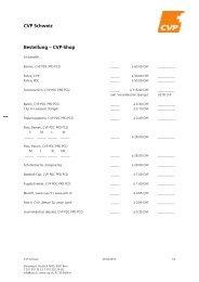 CVP Schweiz Bestellung – CVP-Shop