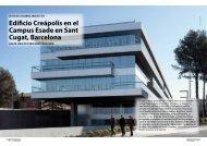 Edificio Creápolis en el Campus Esade en Sant ... - Promateriales