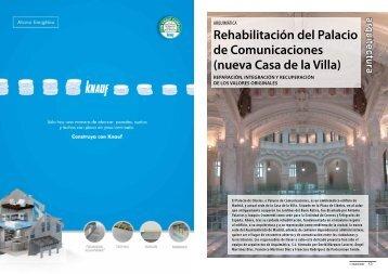 Rehabilitación del Palacio de Comunicaciones ... - Promateriales
