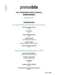2012 promaxbda north america design awards finalist list