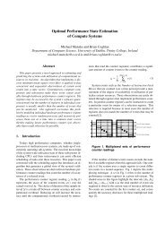 Optimal Performance State Estimation of Compute Systems ∑