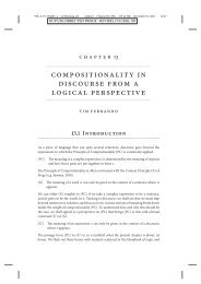 compositionality in discourse from a logical perspective