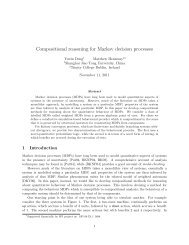 Compositional reasoning for Markov decision processes