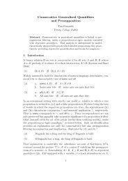 Conservative Generalized Quantifiers and Presupposition