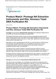 Product Watch: Promega NA Extraction Instruments and Kits ...