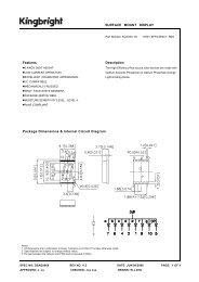 Package Dimensions & Internal Circuit Diagram Description ...