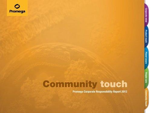 Download Community Touch » PDF - Promega