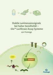 "Gloâ""¢ Luciferase Assay Systeme - Promega"