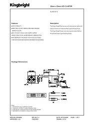 22mm x 22mm LED CLUSTER Features Description Package ...