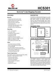 HCS301 - KeeLoQ Code Hopping Encoder - Microchip